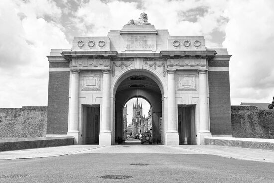 The Meninpoort (Menin Gate) in Ypres was unveiled in 1927 as a memorial to those who fell in the Great War (photo © Sergey Dzyuba / dreamstime.com).