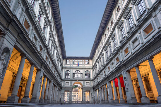 The Uffizi Gallery in Florence (photo © Gordon Bell).