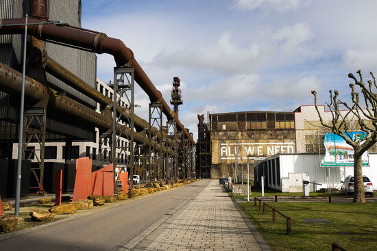 Brownfield reevelopent at Belval, Luxembourg (photo © hidden europe).