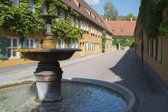 The Fuggerei, Augsburg. The annual rent for a modest apartment in the Fuggerei social housing settlement is less than one euro (photo © Jgphoto76 / dreamstime.com).