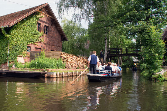 There are distinctive flat-bottomed boats used for leisure is the watery Spreewald region of eastern Germany (photo © Alexf76 / dreamstime.com).