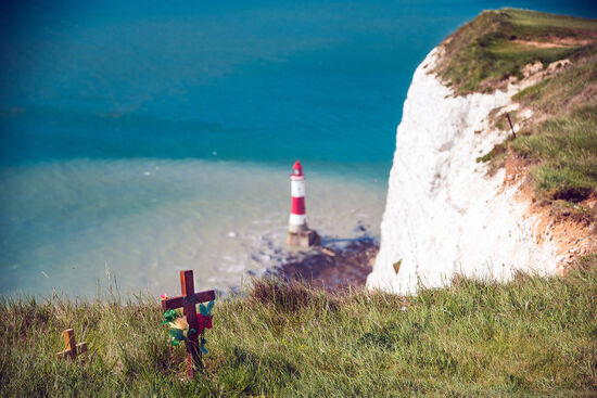 Sorrowful associations at Beachy Head (photo © Alberto Dubini / dreamstime.com).