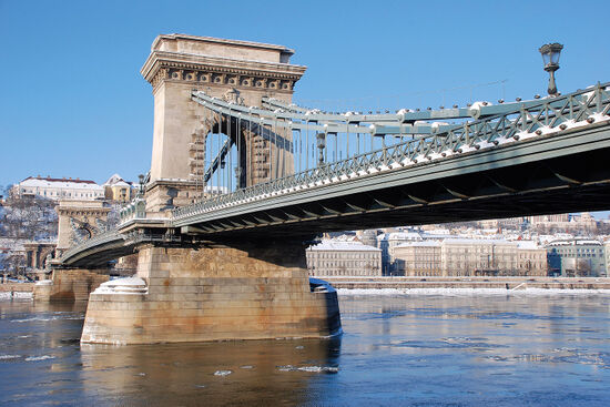 The Chain Bridge across the Danube at Budapest was designed by Tierney Clark (photo © Duncan JD Smith).