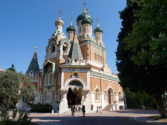 The Russian Orthodox church in Nice has recently been restored to the Moscow Patriarchate (photo © hidden europe).