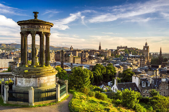 View from Calton Hill over the city of Edinburgh (photo © Shaiith / dreamstime.com).
