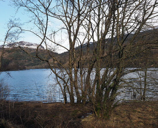 Loch Lubnaig near Callander, Scotland, on an afternoon in early March (photo © hidden europe).