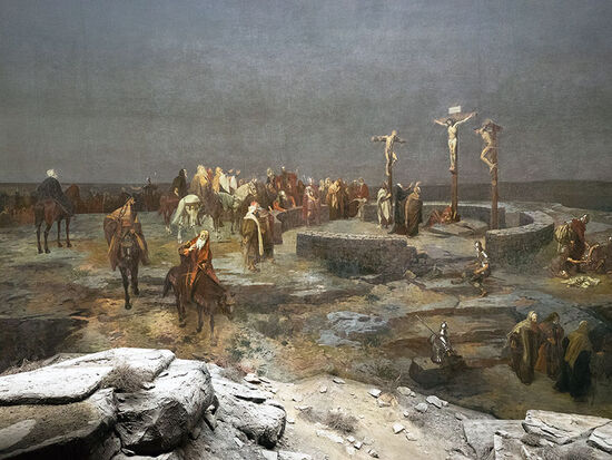 Calvary scene from the Altötting panorama (photo © hidden europe).