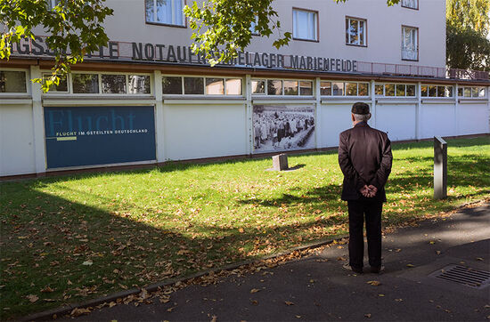 The refugee reception centre in the Berlin suburb of Marienfelde (photo © hidden europe).
