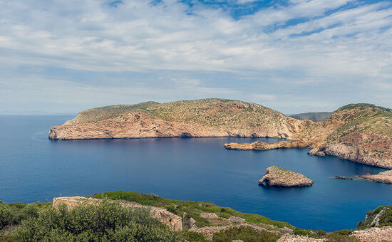 The former prison island of Cabrera - just off the south coast of Mallorca - is now a popular destination for day trips by boat from Mallorca (photo © Alexander Nikiforov / dreamstime.com).