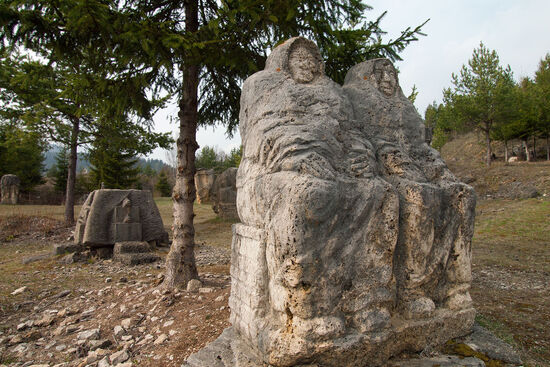 Sculptures hewn from travertine at Vysné Ruzbachy, Slovakia (photo © hidden europe).
