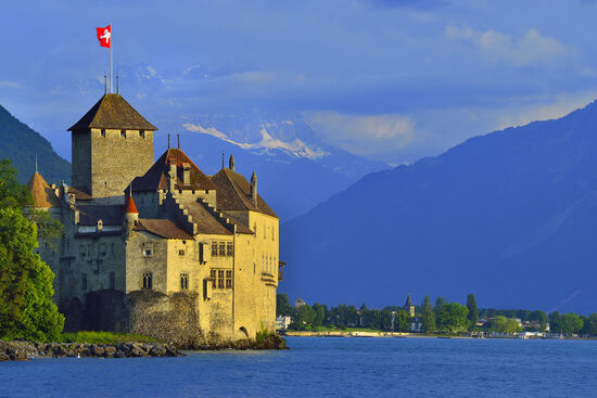 Byron's visit to the Château de Chillon in 1816 set the agenda for generations of subsequent travellers. This hugely popular castle on the shores of Lake Geneva is in the premier league of Swiss visitor attractions (photo © Pavalache Stelian / dreamstime.com).