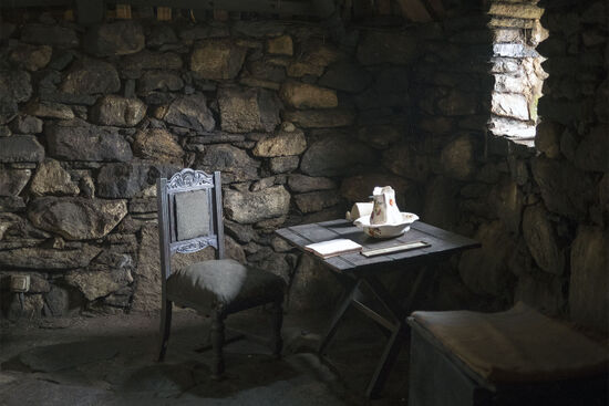 Shades of the past in the Hebridean blackhouse at Arnol on the Isle of Lewis (photo © hidden europe)