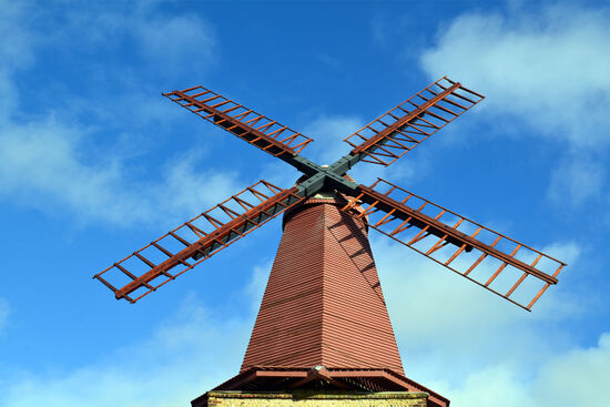 Smock mill in West Blatchington, Sussex (photo © Martin Meehan / dreamstime.com).