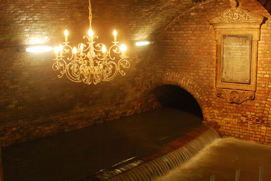 The Chandelier Hall in Cologne's sewer system (photo © Duncan JD Smith).