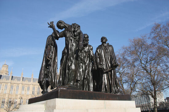 Rodin's statue 'The Burghers of Calais' (photo © Tpungato / dreamstime.com).
