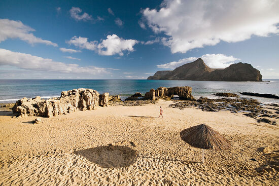 Beach at Porto Santo, the second largest island in the Madeira archipelago (photo © Luisafonso / dreamstime.com).